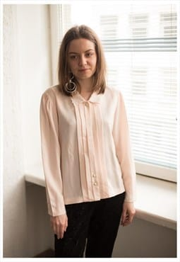 Vintage 60's Pastel Pink Pleated Front Shirt