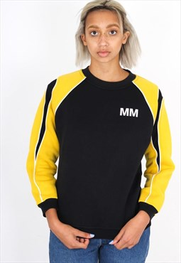 Vintage Colour Block Yellow and Black Sweatshirt