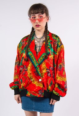 Vintage 90's Baroque Pattern Jacket