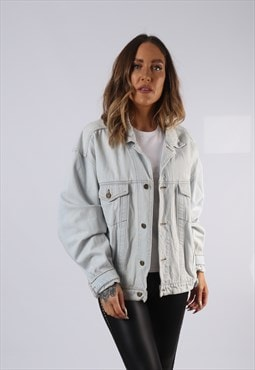 Vintage Denim Jacket Oversized Fitted UK 16 XL  (C3B)