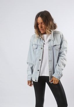 Denim Jacket Oversized Fitted JINGLERS Vintage UK 16 (BF4E)
