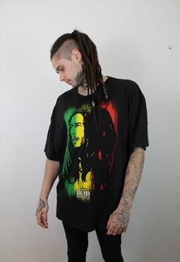 Vintage 90s Bob Marley T-Shirt in Black XXXL