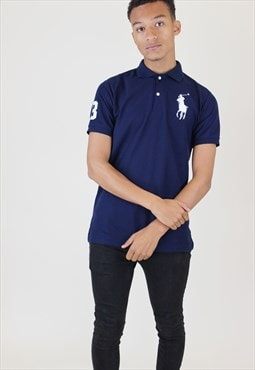 Ralph Lauren Vintage Polo Shirt Blue