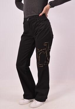 Vintage Roccobarocco Trousers Black
