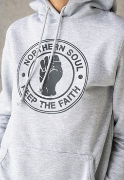 Northern Soul Keep The Faith Hoodie Printed Women Hooded Top