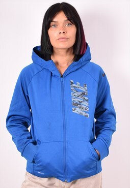 Nike Womens Vintage Hoodie Jacket XL Blue 90s