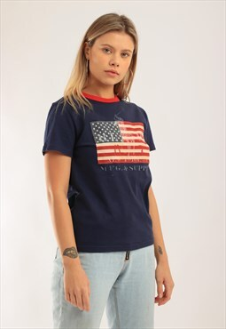 c9f883438f7ba Vintage Polo Ralph Lauren USA Flag T-shirt