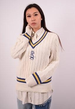 Vintage Polo Ralph Lauren Jumper Sweater White