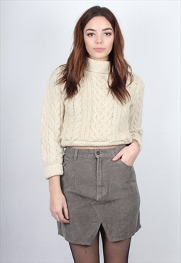 Poorboy Remade Brown Corduroy Mini Skirt