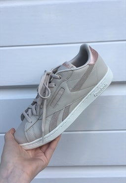 Womens Reebok trainers beige rose gold reebok classic club