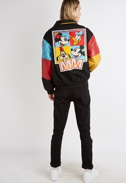 Retro Mickey Mouse Leather Jacket
