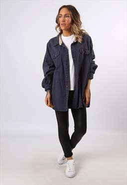Cotton Shirt WRANGLER Oversized Long UK 24 (J73K)