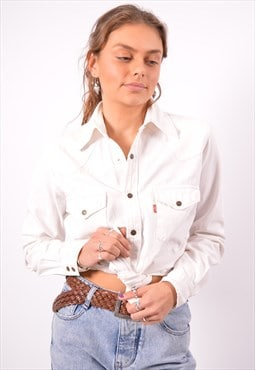 Vintage Levi's Denim Shirt White