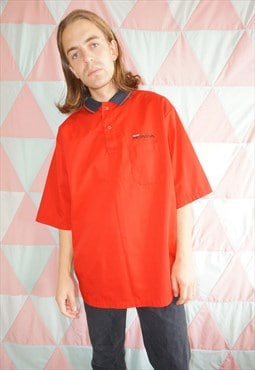 Vintage 90's Red / Black Honda Oversized Workwear Shirt