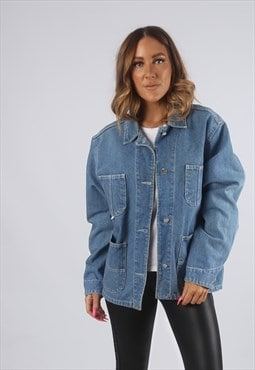 Vintage Denim Jacket Oversized ESPRIT UK 12 M (H4Q)