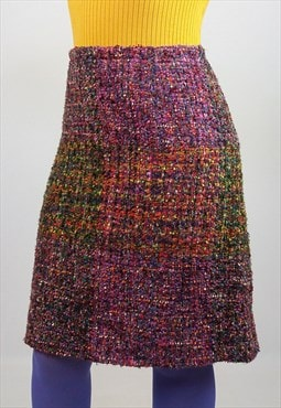 WEILL Vintage 90's Rainbow Wool Tweed Skirt