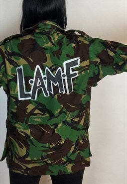 LAMF Hand Painted Reworked Vintage Camo Jacket