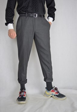 Vintage grey classic straight classic trousers