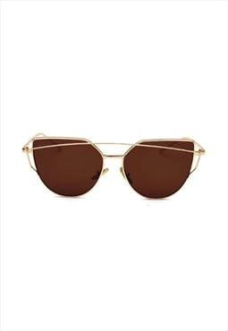 Lucy Cat Eye Sunglasses Brown