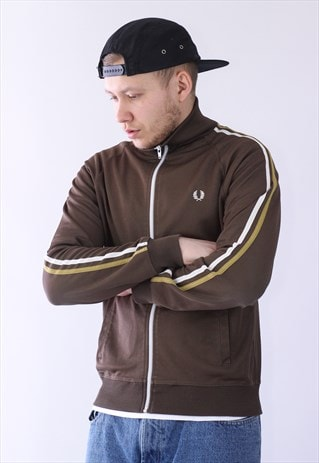 VINTAGE MENS FRED PERRY TRACK TOP JACKET