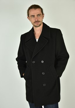Vintage 90's Jones New York Black Peacoat Size SM
