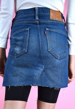 Vintage Rework Skirt 90s Levi's Denim Mini Blue