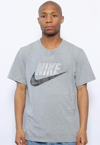 Vintage Nike Big Logo T-Shirt Grey