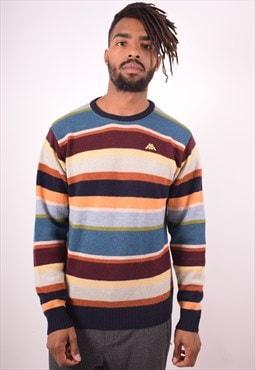 Robe di Kappa Mens Vintage Jumper Sweater Large Multi 90s