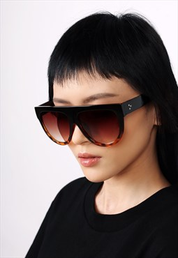Kayla 2.0 Oversized Brown Sunglasses