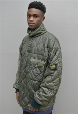 Rare Vintage Stone Island Quilted Wax Jacket