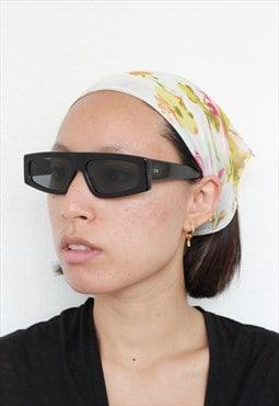 Y2K White Multi Floral Print Bandana / Headscarf / Scarves