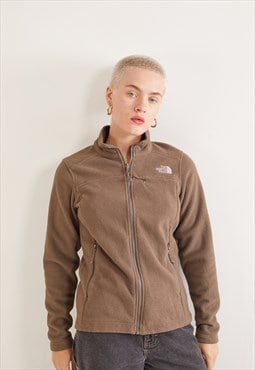 Vintage The North Face Zip-Up Fleece Sweatshirt Brown