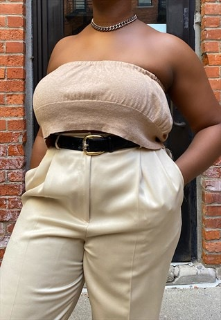 VINTAGE UPCYCLED TAN TUBE TOP
