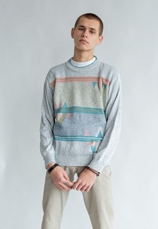 VINTAGE 80S MINIMAL JUMPER WITH PATTERN