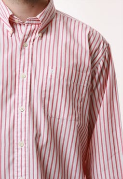90s YVES SAINT LAUREN Vintage Striped Cotton/P Shirt 16898