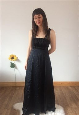 Vintage 90s Long Black Dress