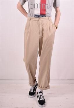 Polo Ralph Lauren Mens Vintage Trousers W36 L30 Beige 90s