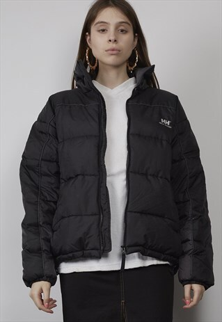 VINTAGE 90'S HELLY HANSEN BLACK PUFFER JACKET