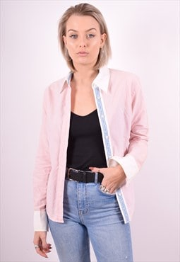Fred Perry Womens Vintage Shirt Large Pink 90's