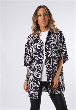 Print Patterned Shirt Oversized Fitted UK 18 - 20 (EDCB)