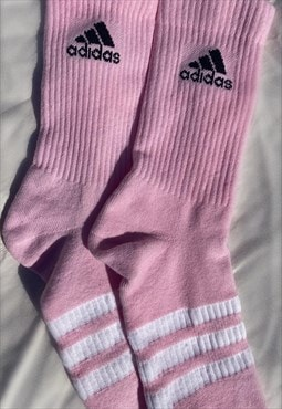 Pastel Pink Customised Adidas Socks