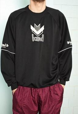 Vintage 00s KWD basics slogan sweatshirt jumper pullover