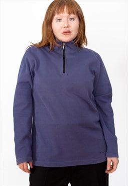 Vintage 90s Adidas 1/4 Zip Sweatshirt ID:3749