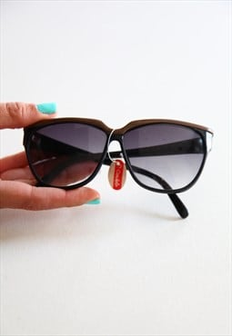 Vintage P. CARDELLO Black Frame,  Grey lenses