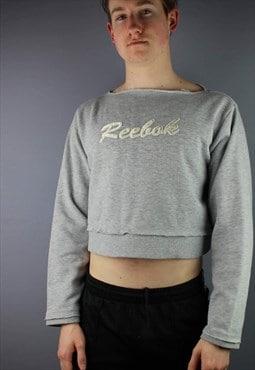 Vintage Reebok Sweatshirt in Grey with embroidered back logo