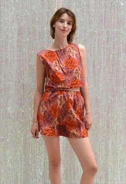 Scarlet Sunset Short Festival Co-ord