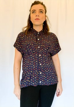 Upcycled Hand Pleated TRILLIUM Shirt