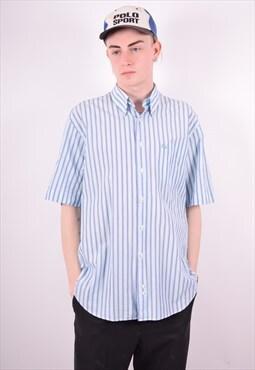 Burberry Mens Vintage Shirt XL Blue 90's