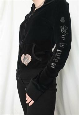 Velour y2k hoodie