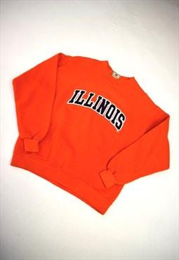 """Vintage 90s Lee Orange """"Illinois"""" Sweatshirt"""